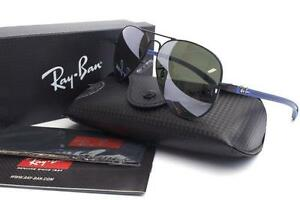 2e75665c98 RAY-BAN RB 8307 006 40 Matte Black Blue Sunglasses Authentic New ...