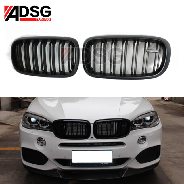 For BMW X5 F15 Matte Black Dual Slat M LOOK Front Grille