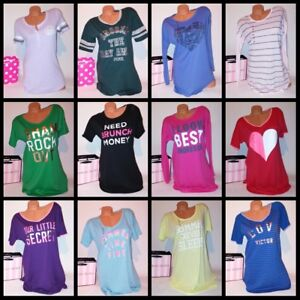 Victoria Secret Sleep Shirt Night Gown Pajama Angel Tee Sleepshirt ... 2c57df3d0
