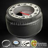 Black Aftermarket 6-bolt Steering Wheel Hub Adaptor Kit 1990-2005 Mazda Miata