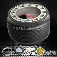 Black Aftermarket 6-bolt Steering Wheel Hub Adaptor Kit Acura Integra 94-01 Dc2