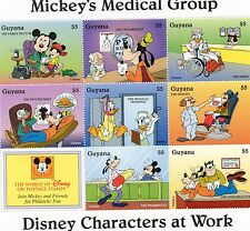 BLOC TIMBRES NEUFS WALT DISNEY MICKEY MEDICAL GROUP : ST VINCENT ET GRENADINES