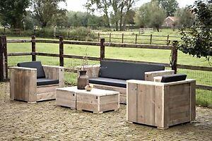 gartenm bel loungeset unbehandeltes ger stholz lounge. Black Bedroom Furniture Sets. Home Design Ideas