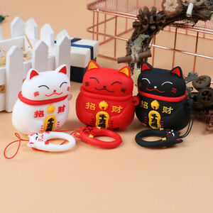 Lucky-Cat-Headphone-Cases-For-Bluetooth-Headset-Airpods-1-2-Silicone-Cover-PYB