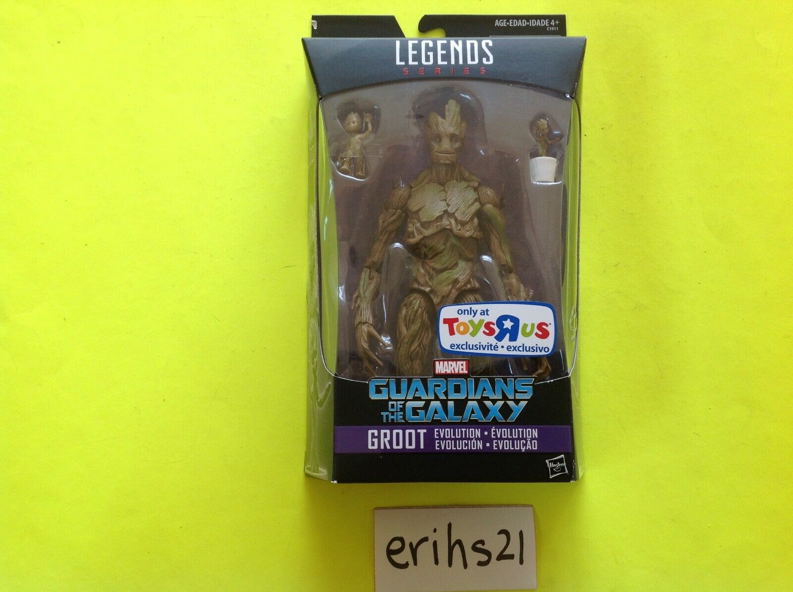 Marvel Legends ToysRUs Exclusive Evolution of GROOT Guardians of the Galaxy TRU