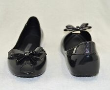 New Women's Melissa Queen Flat Shoes, Black (Size US 8)