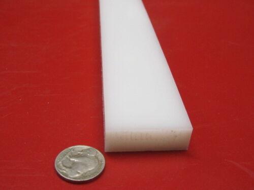 "HDPE White Bar 1//2/"" Thick x 1.50/"" Wide x 48/"" Long 2 Units"