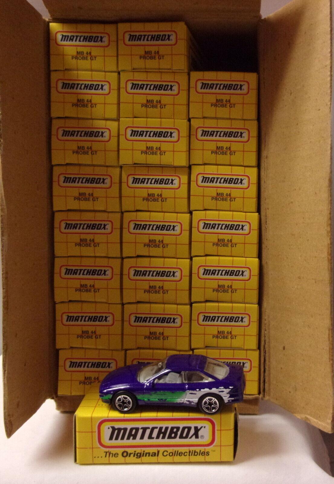 KKar Matchbox -  Yellow Box - MB44 Ford Probe - Purple - Case Lot