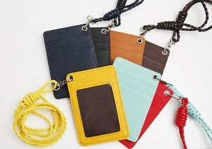 Synthetic-Leather-ID-Card-Holder-Lanyard-Wallet-Necklace-Strap-Badge-Holder-Gift