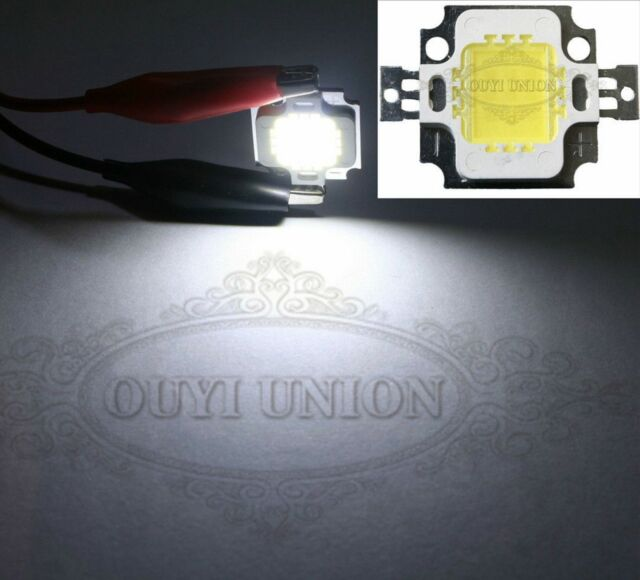 1pcs 10W Pure White High Power 900LM 6000-6500K LED Lamp SMD Chips Light 10Watt