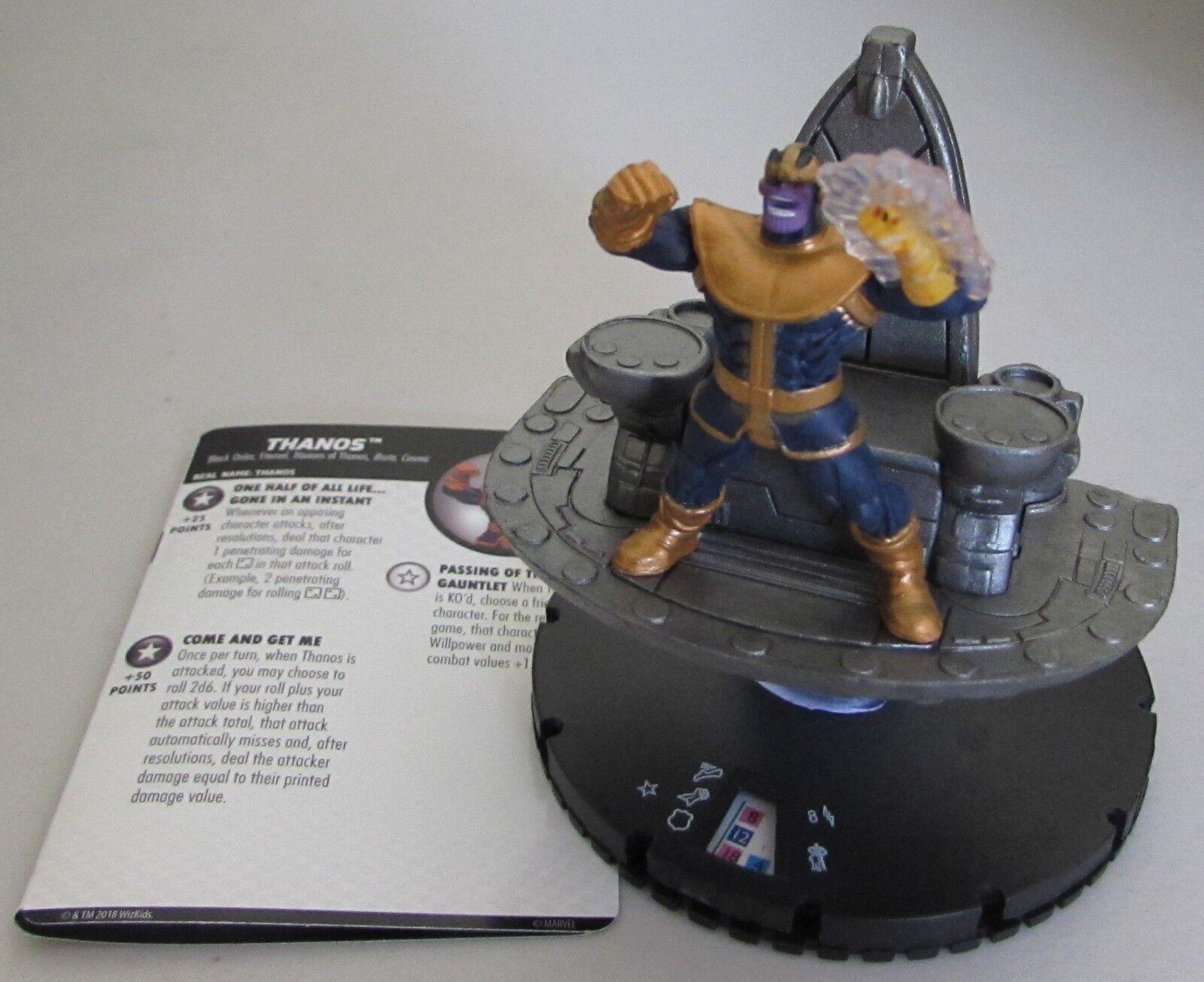 buscando agente de ventas Thanos G018 G018 G018 Los Vengadores Infinito Marvel Heroclix colosal Raro  promociones de equipo