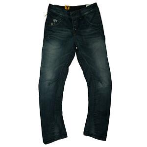 G-Star-Arc-Loose-Tapered-Wmn-Ladies-Destroy-Boyfriend-Jeans-Pants-W26-L32-Blue