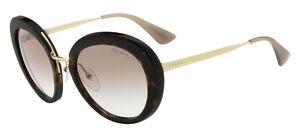 189f07f9c34 HOT Authentic PRADA CINEMA Round Metal Havana Brown Sunglasses SPR ...