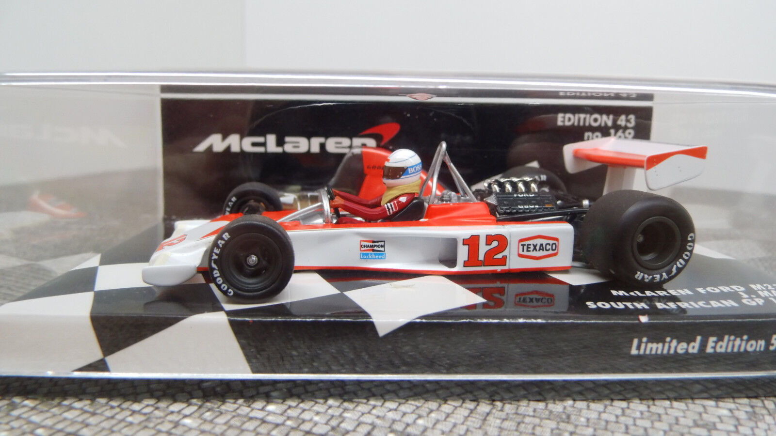 Minichamps 1 43 McLaren Ford m23 J. Maas South Africa 1976 530764332 NUOVO OVP