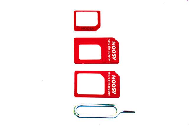 Nano Sim Karte Kaufen.Noosy Multi Sim Karten Adapter Micro Sim Nano Sim Adapter Rot Xtra