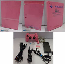 Console Gioco Game SONY Playstation 2 Originale PS2 Slim Pink Rosa Pad + Memory