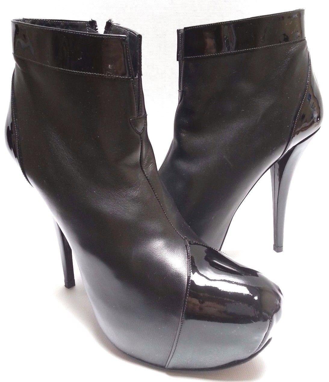 Stuart Weitzman Agree Black Patent Boots Size: US10 Narrow (AA, N) RET 595.00