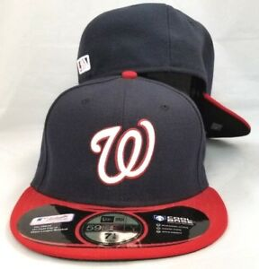 Image is loading NEW-ERA-MLB-Washington-Nationals-Fitted-HAT-CAP- be068a87a90