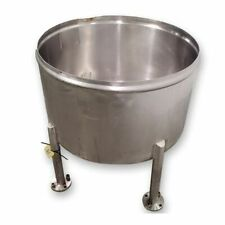 Used 100 Gal Stainless Steel Sanitary Kettle Open Top Tank