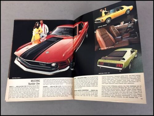 1970 Ford Torino LTD Galaxie Mustang Thunderbird Maverick Car Sales Brochure