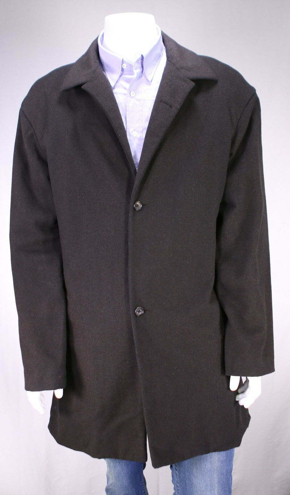 JIL SANDER  Tailor Made Braun Wool-Cashmere Fleece Flannel 3-Btn Overcoat 38R