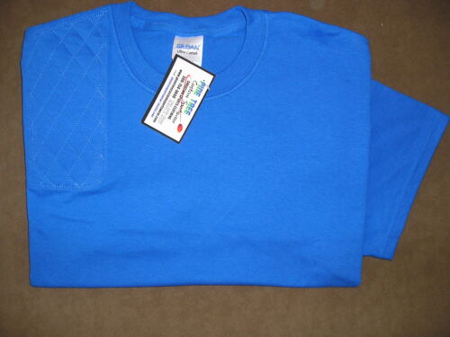 MEDIUM Right Hand Trap//Skeet Pad ROYAL BLUE S//S Cotton Shooting T-Shirt