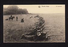 37899/ AK - Armée belge - En tirailleurs - In Stellung - *