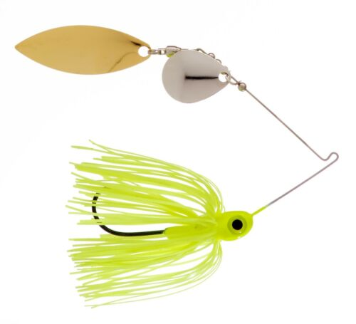 3//8oz Spinner Bait  Chartreuse Colorado//Willow 3-pack FREE SHIPPING!!!!!