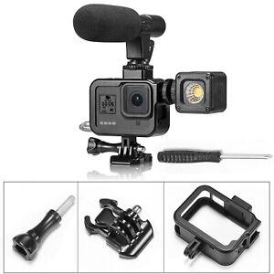 Fuer-GoPro-Hero-8-Kamera-Metall-Aluminium-Schutzrahmen-Huelle-Gehaeuse-Case-Kaefig-MV