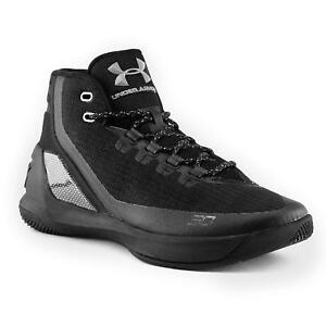 sale retailer 41919 a053b Image is loading Under-Armour-UA-Curry-3-Black-Men-039-