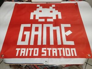 GAME-TAITO-STATION-Arcade-BANNER-32x28in