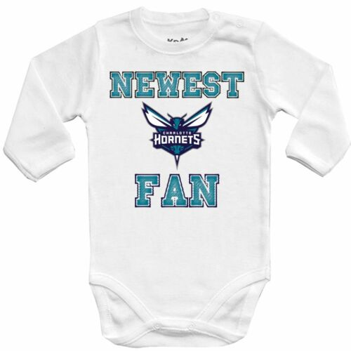 Baby bodysuit Newest fan charlotte hornets NBA bascet One Piece jersey