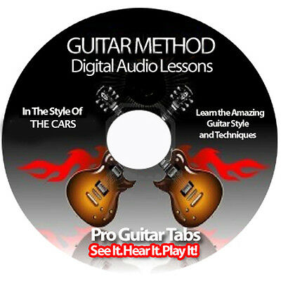 THE CARS Guitar Tab Software Lesson CD + BACKING TRACKS + FREE BONUSES