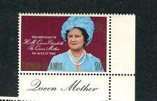 Cayman Islands 1980 80°anniversario Regina Madre Elisabetta 450  Mnh