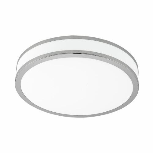 Palermo plafonnier DEL acier blanc chaud Dia 280 mm Lumière Chrome-EGLO