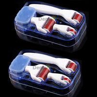 4in1 Derma Roller 0.5mm/1.0mm/1.5mm Titanium Micro Needles Skin Care Travel Case