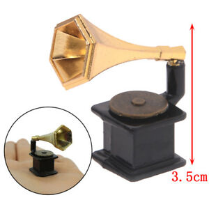 1-12-Dollhouse-Miniature-Accessories-Vintage-Phonograph-Family-Furniture-ToyF-ME