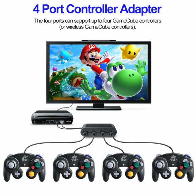 4Port USB Gamecube NGC Controller Adapter Converter For Nintendo Wii U&Switch&PC