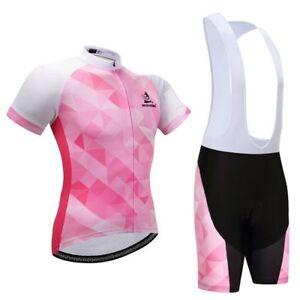 Women s Cycling Kit Pink Cycle Jersey   Padded (Bib) Shorts Bicycle ... 00947f834