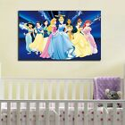 60×95×3cm Disney Princess Stretched Canvas Prints Framed Kids Room Girl Wall Art