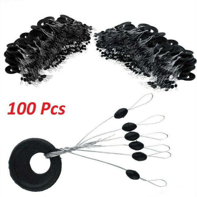 100PC Silicone Fishing Bobber Stoppers Rubber Float Line Sinker Stops Space Bean
