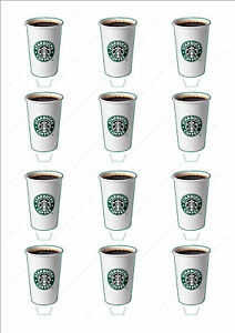 Novelty-Starbucks-Coffee-Cup-Edible-Cake-Cupcake-Toppers-Decorations-Birthday