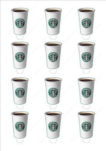 Nouveauté Starbucks Coffee Cup Comestible Gâteau Cupcake Toppers Décorations Anniversaire