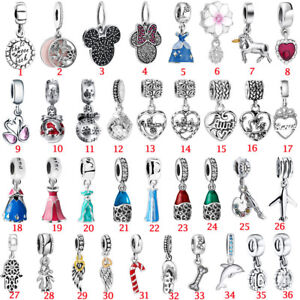 European-Pendant-Charms-Bead-Dangle-Fit-925-Silver-Sterling-Bracelets-Necklace