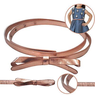 10mm Cintura Con Farfalla Fiocco Fibbia Skinny Simil Pelle Bambini Outfit