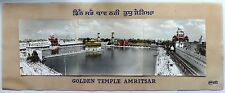 India Golden Temple Sikh 1921 1st Kar Seva panorama 3 part hand colored photo