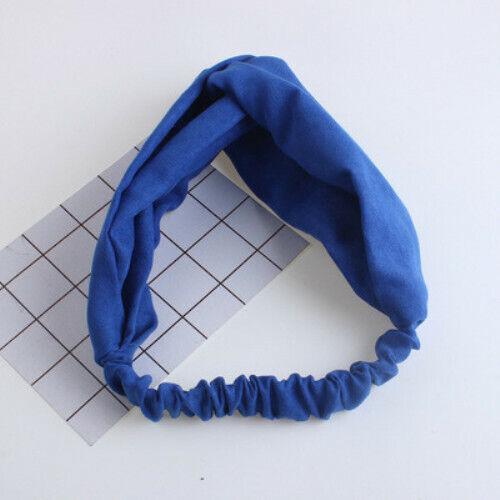 Boho Floral Twist Knot Headband Elastic Wrap Turban Hair Band Hairband Sports UK