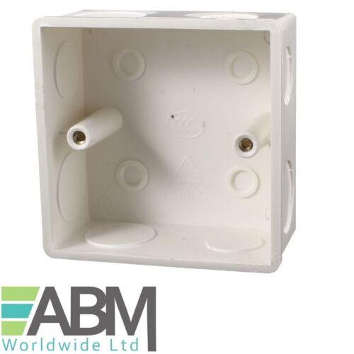 2 X 86mm x 86mm x 32mm Plastic Dual Sockets Mount Back Box Wall Socket White