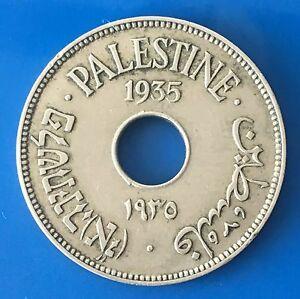 Israel-Palestine-British-Mandate-10-Mils-1935-Coin-XF