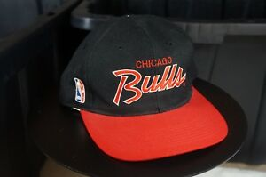 Image is loading Rare-Vintage-SPORTS-SPECIALTIES-Chicago-Bulls-Script- Snapback- 4aa985cbd